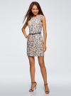 Платье льняное без рукавов oodji #SECTION_NAME# (белый), 12C00002-1B/16009/1231F - вид 2