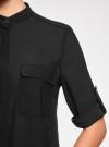 Блузка базовая из шифона oodji #SECTION_NAME# (черный), 11403225B/45227/2900N - вид 5
