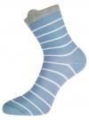 Комплект из трех пар хлопковых носков oodji для женщины (разноцветный), 57102802T3/47469/23