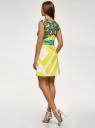 Платье трикотажное с принтом oodji для женщины (белый), 14015003/33038/1052O