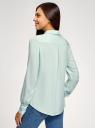 Блузка базовая из вискозы oodji для женщины (зеленый), 11411136B/26346/6502N