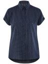Блузка из вискозы с нагрудными карманами oodji #SECTION_NAME# (синий), 11400391-4B/24681/7912D