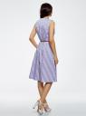 Платье с поясом без рукавов oodji #SECTION_NAME# (фиолетовый), 12C13008-1/46683/8012S - вид 3