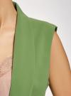 Жилет удлиненный без застежки oodji #SECTION_NAME# (зеленый), 12300103-1B/42250/6200N - вид 5