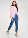 Блузка базовая из вискозы oodji для женщины (розовый), 11411136B/26346/4000N