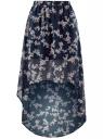 Юбка шифоновая с асимметричным низом oodji для женщины (синий), 13G00010B/35271/7940F