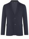 Пиджак базовый приталенный oodji для мужчины (синий), 2B420030M/49710N/7900N