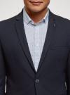 Пиджак базовый приталенный oodji #SECTION_NAME# (синий), 2B420022M/48331N/7902N - вид 4