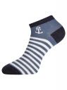 Комплект укороченных носков (6 пар) oodji для женщины (разноцветный), 57102433T6/47469/25