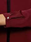 Блузка из струящейся ткани с контрастной отделкой oodji #SECTION_NAME# (красный), 11411059/43414/4900N - вид 5