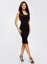 Платье-майка трикотажное oodji для женщины (черный), 14015007-2B/47420/2900N