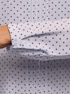 Блузка с декоративными завязками и оборками на воротнике oodji #SECTION_NAME# (синий), 11411091-3/48458/7079D - вид 5