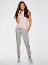 Комплект трикотажных брюк (2 пары) oodji #SECTION_NAME# (серый), 16700030-15T2/46173/2375N - вид 6