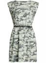 Платье вискозное без рукавов oodji #SECTION_NAME# (зеленый), 11910073B/26346/6062O