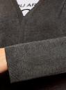 Кардиган без застежки с карманами oodji #SECTION_NAME# (серый), 63212589/45904/2500M - вид 5