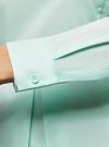 Блузка базовая с баской oodji #SECTION_NAME# (зеленый), 11400444B/42083/6501N - вид 5