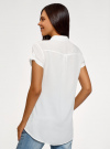 Блузка из вискозы с нагрудными карманами oodji #SECTION_NAME# (белый), 11400391-4B/24681/1200N - вид 3