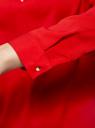 Блузка с вырезом-капелькой и металлическим декором oodji #SECTION_NAME# (красный), 21400396/38580/4500N - вид 5