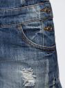 Комбинезон джинсовый с модными потертостями oodji для женщины (синий), 13109056/42559/7900W