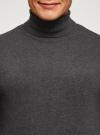 Свитер базовый из хлопка oodji #SECTION_NAME# (серый), 4B312003M-1/34390N/2502M - вид 4