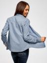 Рубашка джинсовая принтованная oodji #SECTION_NAME# (синий), 16A09003-3/47735/7912G - вид 3