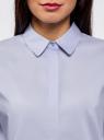 Рубашка свободного силуэта с асимметричным низом oodji #SECTION_NAME# (фиолетовый), 13K11002-1B/42785/8000N - вид 4