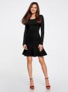 Платье вязаное с расклешенным низом oodji для женщины (черный), 63912223/46096/2900N - вид 2
