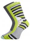 Комплект высоких носков (3 пары) oodji #SECTION_NAME# (разноцветный), 57102902T3/47469/46 - вид 2