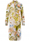 Платье вискозное на пуговицах oodji для женщины (разноцветный), 21900318/42127/1019F