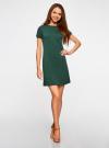 Платье трикотажное из фактурной ткани oodji #SECTION_NAME# (зеленый), 14000162-1/47198/6900N - вид 2