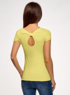 Комплект футболок с вырезом-капелькой на спине (3 штуки) oodji #SECTION_NAME# (желтый), 14701026T3/46147/6700N - вид 3
