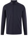 Рубашка базовая хлопковая oodji #SECTION_NAME# (синий), 3B110017M-2/48420N/7901N