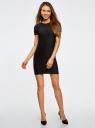 Платье трикотажное с коротким рукавом oodji #SECTION_NAME# (черный), 14011007/45262/2900N - вид 2