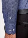 Рубашка хлопковая принтованная oodji #SECTION_NAME# (синий), 3L110326M/19370N/7975G - вид 5