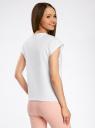 Комплект из двух хлопковых футболок oodji для женщины (белый), 14707001T2/46154/1000N
