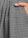 Юбка миди в клетку oodji #SECTION_NAME# (серый), 11600433-2B/22124/2012C - вид 5