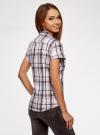 Рубашка клетчатая с коротким рукавом oodji #SECTION_NAME# (розовый), 11402084-4/35293/1041C - вид 3