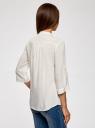 Блузка вискозная с регулировкой длины рукава oodji #SECTION_NAME# (белый), 11403225-3B/26346/1200N - вид 3