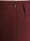 Юбка стретч прямая oodji #SECTION_NAME# (коричневый), 11610003B/14007/4900N - вид 4