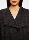Кардиган трикотажный без застежки oodji для женщины (черный), 63207187/45716/2912M - вид 4