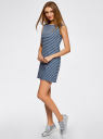 Платье из ткани пике oodji #SECTION_NAME# (синий), 14005074-1B/46149/7079S - вид 6