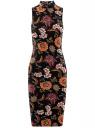 Платье облегающего силуэта с воротником-стойкой oodji для женщины (черный), 14005138-3B/46943/294AF