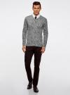 Пуловер вязаный с принтом oodji #SECTION_NAME# (серый), 4L212151M/44326N/2329F - вид 6