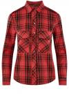 Рубашка в клетку с карманами oodji #SECTION_NAME# (красный), 11411052/42850/4529C