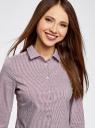 Блузка приталенная в горошек oodji #SECTION_NAME# (фиолетовый), 11403227/46079/1049G - вид 4