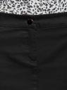 Юбка короткая с декоративными молниями oodji для женщины (черный), 21600288/24770/2900N