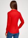 Рубашка базовая с нагрудными карманами oodji #SECTION_NAME# (красный), 11403222B/42468/4500N - вид 3