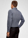 Рубашка приталенная в мелкую графику oodji #SECTION_NAME# (синий), 3L110322M/44425N/1079G - вид 3