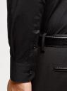 Рубашка приталенная с нашивкой на воротнике oodji #SECTION_NAME# (черный), 3L140117M/34146N/2900N - вид 5
