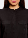 Блузка вискозная с регулировкой длины рукава oodji #SECTION_NAME# (черный), 11403225-2B/26346/2900N - вид 4